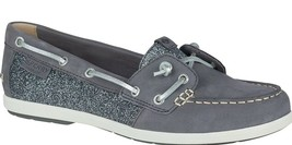 Sperry Top-Sider Women's Coil Ivy Dark Grey Leather Sparkle Boat Shoes STS99659 image 1
