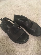 Bally black leather sandals size 7.5 - $97.41 CAD