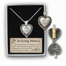 Memorial Locket Necklace I'll Hold You In My Heart Until I Can You In He... - $27.71