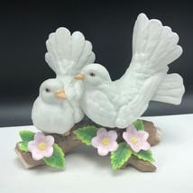 COURTSHIP DOVES FIGURINE vintage porcelain statue homco home interior gift birds - $35.64