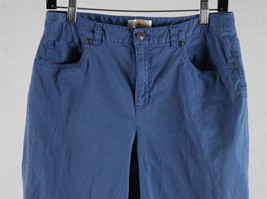 Talbots Womens Blue Petite Stretch Capri Pants Size 10, Measures 30 x 19 - $12.86