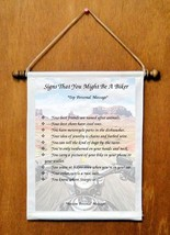 Signs That You Might Be A Biker - Personalized Wall Hangings (1092-1) - $18.99