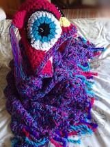 Crochet hooded Owl Blanket Throw Chunky Handmade in Uk gift for Her, Chi... - $72.41+