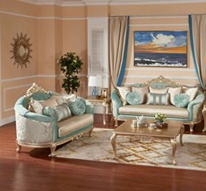 Blue Sofa and Loveseat living Room Sets Seating Couch - $3,229.62