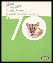 1970 Mercury Cougar Prestige Brochure XR7 Eliminator, Original 70 - $15.42