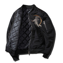 Men Jackets 2018 Embroidery Coat Men Sukajan Yokosuka Souvenir Jacket Fa... - $73.63