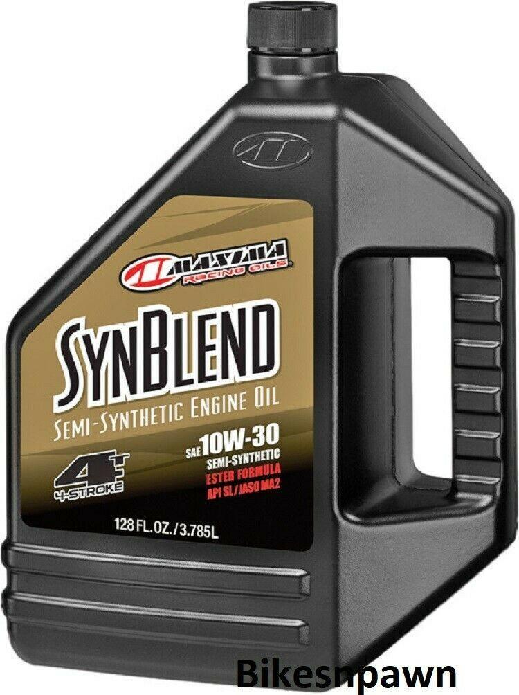 Maxima Syn Blend4 10W-30 1 Gallon 4 Stroke Motorcycle Motor Oil