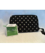 Vera Bradley zip around wallet in retired Classic Black pattern NWT - $19.50