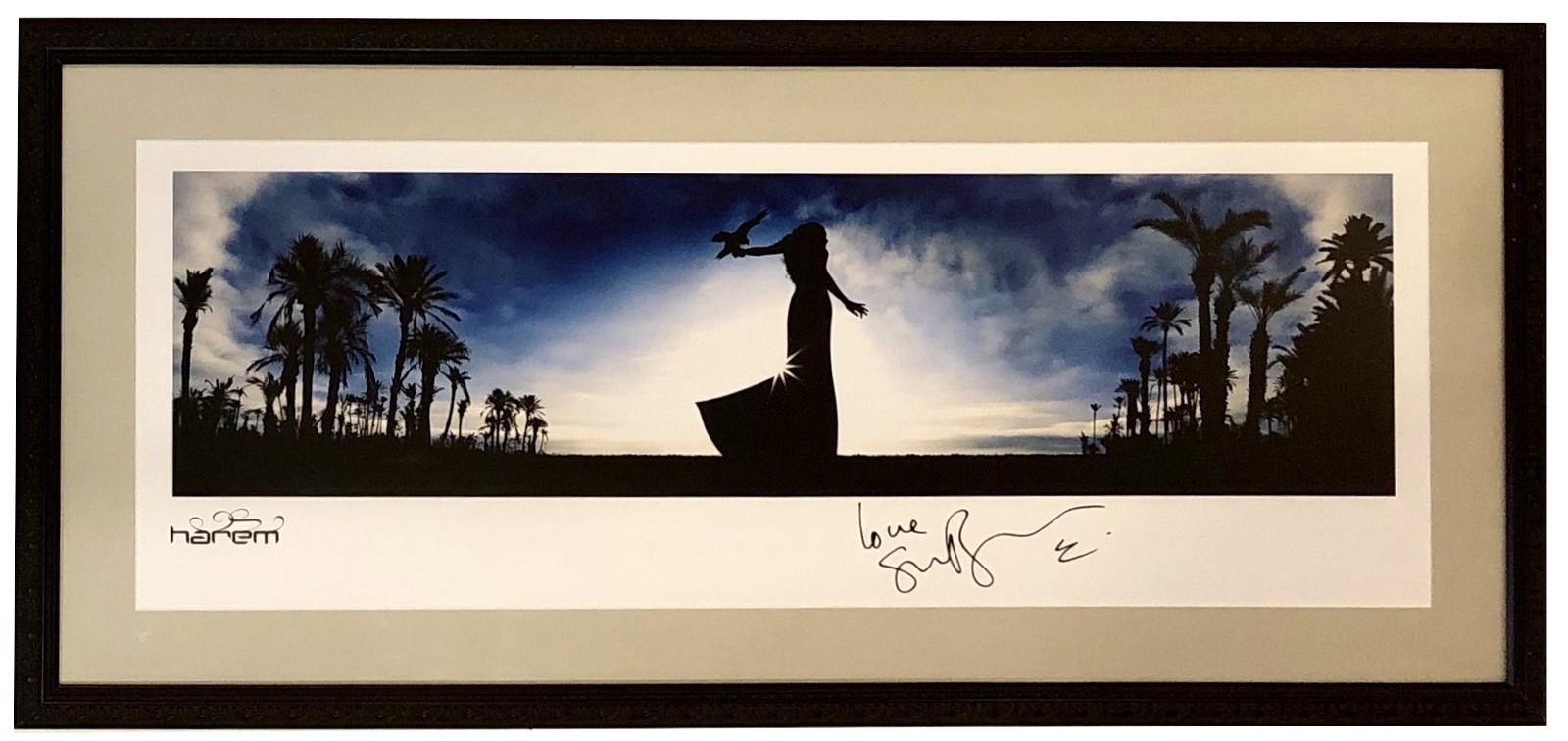 SARAH BRIGHTMAN AUTOGRAPHED Hand SIGNED HAREM WORLD TOUR POSTER FRAMED w/COA  - $399.99