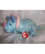Ty Pluffies Tromps Triceratops Dinosaur  - $12.99