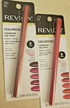 Revlon Colorstay Longwear Lip Liner 703 Mink, 713 Ruby - $15.75