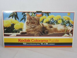 """RoseArt Kodak Colorama Sunning Cat 700 Piece Jigsaw Puzzle 13"""" x 39"""" - $19.79"""