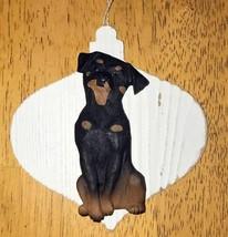 Rottweiler 3D Dog Christmas Farmhouse Style Ornament Gift Holiday - $9.45