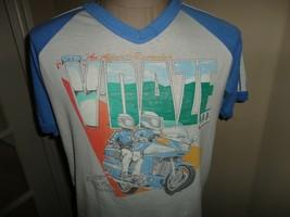 Vtg 1987 V Daze III Motorcycle Rally Raglan Pigeon Forge T-Shirt Fits M ... - $42.56