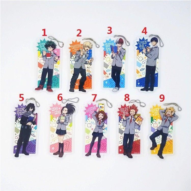New Banpresto My Hero Academia Boku no Hero Akademia Rubber Strap Charm Keychain