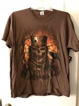 Halloween T Shirt  SKULL WITH HAT Men's  ACE OF SPADES  LARGE , XL MEDIUM - $18.99