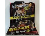 WWE FlexForce Big Talkin' Flip Kickin' CM Punk wrestling figure WWF TNA - New