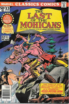 Marvel Classics Comics Comic Book #13 The Last of the Mohicans 1976 FINE - $2.99