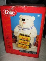 2001 Gibson COCA COLA POLAR BEAR DELIVERY COOKIE JAR - $25.00