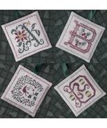 Alphabet Ornaments One - A-B-C-D cross stitch chart Drawn Thread - $9.00