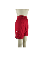 STYLE & CO SPORT Cotton Knit Waistband Roll-Up Cuffed Shorts, Red NWT 14 - $11.52