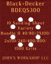 Black+Decker BDEQS300 - 40/80/100/150/240/400/800/1500 - 10pc Variety Bu... - $12.46