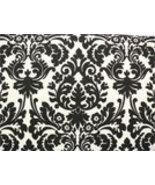 """Damask Table Square Black Ivory Cream Waverly Onyx 18"""" - $7.50"""