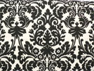 Damask Table Square Black Ivory Cream Waverly Onyx 20""