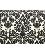 "Damask Table Square Black Ivory Cream Waverly Onyx 20"" - $8.50"
