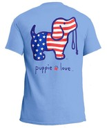 Puppie Love Rescue Dog Adult Unisex Short Sleeve Graphic T-Shirt, USA Pup - $19.99