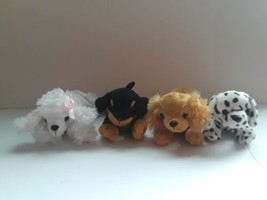 Lot Of 4 Dogs Plush Stuffed Animal Toys Unipak  - $29.69