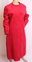 Vtg 18.3ms 21.3ms Halston Dunkel Rosa Kunst- Ultra Veloursleder Hemd Kleid - $133.32