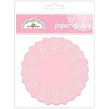 Doodlebug Designs Paper Doilies.  75 Pack.  Choose Color.  4 1/2""