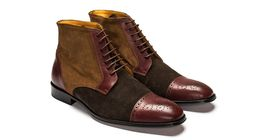 High Ankle Multi Color Genuine Leather Handmade Lace Up Stylish Premium Boots  image 2