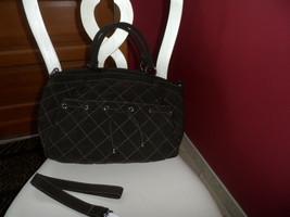 Vera Bradley large Brown Microfiber handbag w/ detachable shoulder strap - $42.00