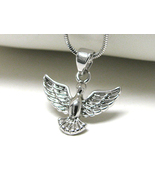 White Gold Plated Angle Bird Silver Pendant Neckalce - $12.00