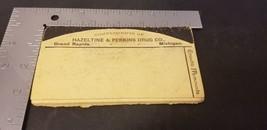 1891 Hires Root Beer Memoranda By Hazeltine & Perkins Drug Co Michigan - $29.02