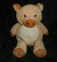 Ty Pluffies 2002 Corkscrew Peach Piggy Pig Stuffed Animal Plush Toy Lovey - $18.70