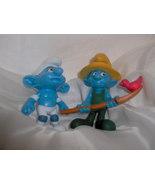 Two McDonalds Smurfs Panicky and Farmer - $3.99