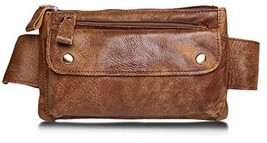 Jonon Unisex Genuine Leather Waist Bag Messenger Fanny Pack Bum Bag For Men - $83.41