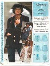 Sewing Step by Step BLAZER & VEST 1994 Misses Sizes 4 - 22 Uncut - $4.88