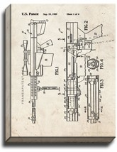 Self-unlocking Device For Recoiling Gun Patent Print Old Look on Canvas - $39.95+
