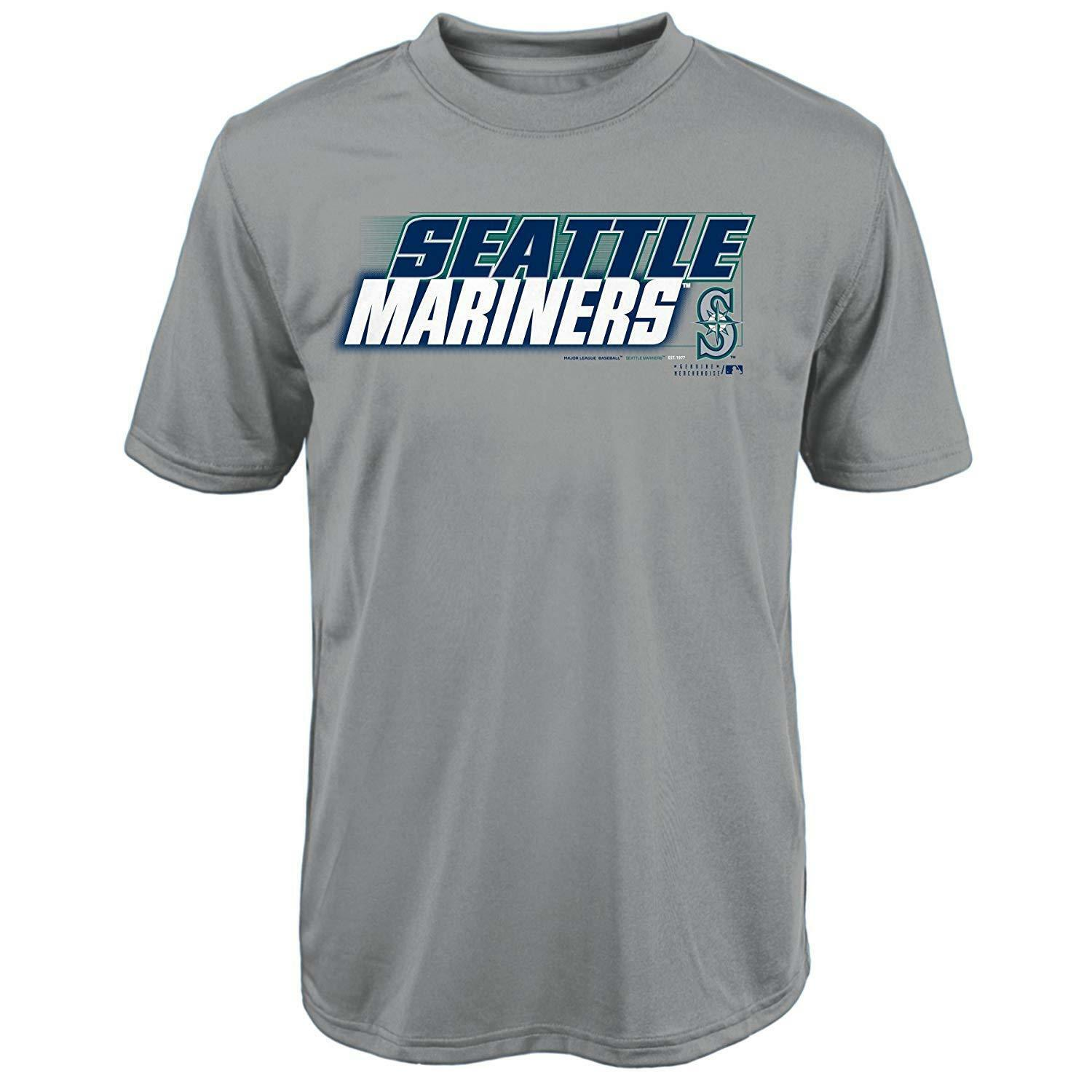 "MLB Seattle Mariners Youth Boys 8-20 ""Kinetic Team & City"" Tee-L (14-16) - $16.45"