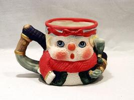 Snowman Unglazed Ceramic Mug - Handpainted - Very Unique, Very Useful Item! - $4.49