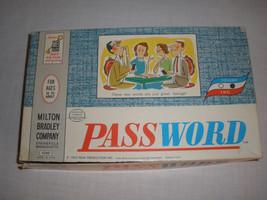 Vintage Password Game Milton Bradley 1962 Family Night Fun - $11.29