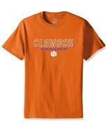 Champion Clemson Tigers Men's Short Sleeve T Shirt Orange Size Medium - $18.21