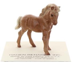 Hagen-Renaker Miniature Ceramic Horse Figurine Chestnut Shetland Pony Colt