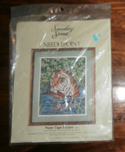 "Water Tiger Picture Something Special Needlepoint 11"" x 14"" Missing Yarn - $14.50"
