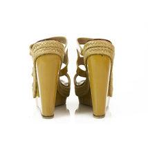 CHRISTIAN LOUBOUTIN Salamanca Espadrille beige Patent Leather Wedges Shoes sz 37 image 7