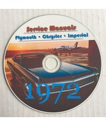 1972 Chrysler Plymouth Imperial Service Manuals~'Cuda, Duster, Roadrunne... - $12.86